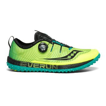 Saucony SWITCHBACK ISO - Trail Shoes - Men's - citron/black