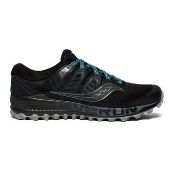 Saucony PEREGRINE ISO - Chaussures trail Homme black/grey