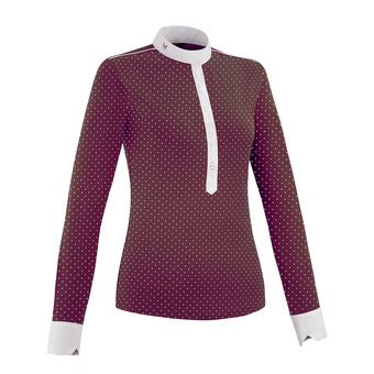 CAPSULE Aerolight Shirt LS Women 2019 Femme Burgundy Dot