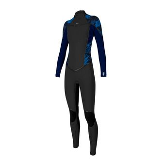 Wms Psycho One 4/3 Back Zip Full Femme BLK/ABYSS/BLUFARO