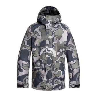 Quiksilver MISSION PRINT - Chaqueta snow hombre black sir edwards