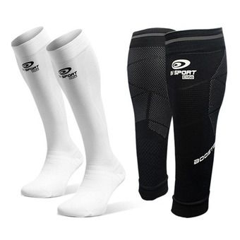 Bv Sport PACK PERFORMANCE ELITE - Calf Sleeves - black + Socks - white