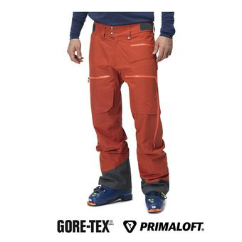 Norrona LOFOTEN GTX - Pantalón de esquí hombre rooibos tea