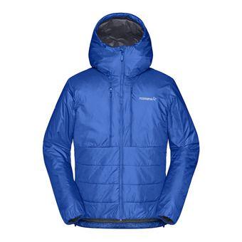 trollveggen Primaloft100 Zip Hood M's Olympian Blu Homme