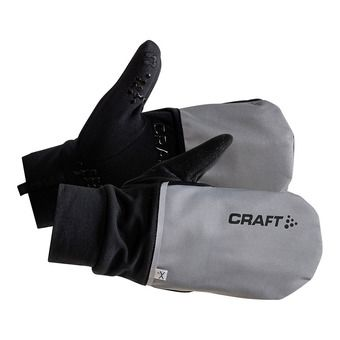 Craft HYBRID WEATHER - Gants 2 en 1 silver/black