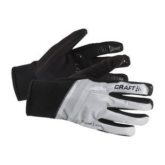 Craft SHELTER - Gloves - black/silver