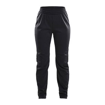 Craft WARM TRAIN - Pantalon Femme black/grey/tran