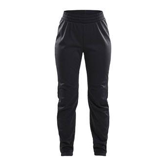 Craft WARM TRAIN - Pantalón mujer black/grey/tran