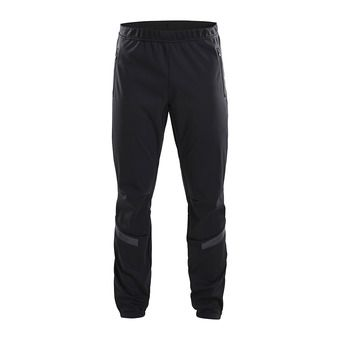 Craft WARM TRAIN - Pantalon Homme black/grey/tran