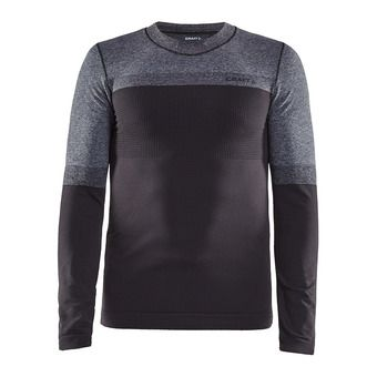 Warm Intensity col rond manches longues homme Homme asphalt/anth