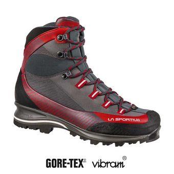 La Sportiva TRANGO TRK LEATHER GTX - Zapatillas de senderismo mujer carbon/garnet