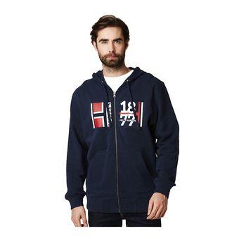 Helly Hansen 1877 FZ HOODIE - Sweatshirt - Men's - navy