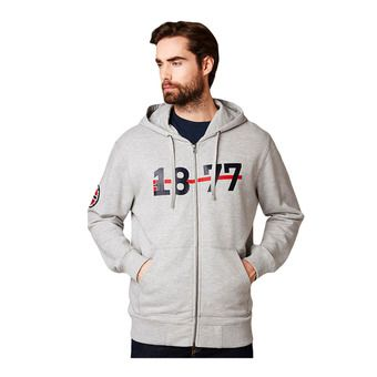 Helly Hansen 1877 FZ HOODIE - Sweatshirt - Men's - grey marl