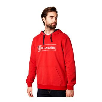 Helly Hansen 1877 HOODIE - Sweatshirt - Men's - flag red