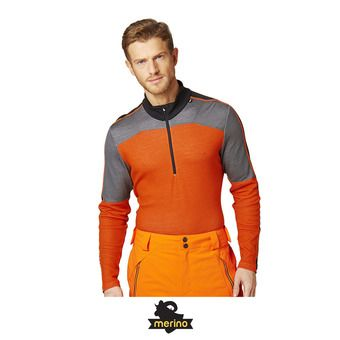 Helly Hansen HH LIFA MERINO 1/2 ZIP - Sous-couche Homme bright orange