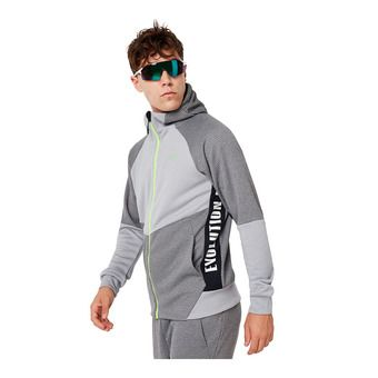 Oakley ENHANCE GRID 9.7 - Sudadera hombre charcoal/heather grey