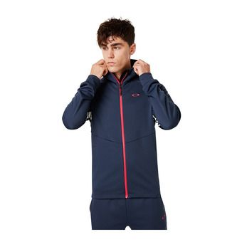 ENHANCE GRID FLEECE JACKET 9.7 Homme FOGGY BLUE