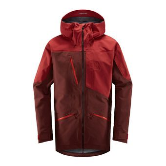 Haglofs NENGAL 3L PROOF - Ski Parka - Men's - maroon red/brick red