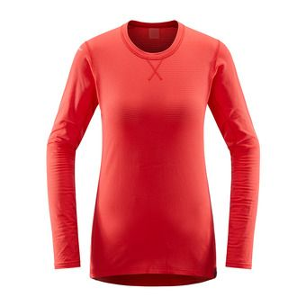 L.I.M Mid Roundneck Women Hibiscus Red Femme