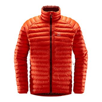 Haglofs ESSENS MIMIC - Down Jacket - Men's - habanero/maroon red