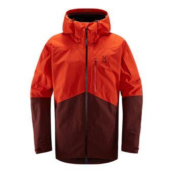 Haglofs NENGAL - Chaqueta de esquí hombre habanero/maroon red