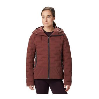 Mountain Hardwear SUPER DS HOODY - Anorak mujer dark umber