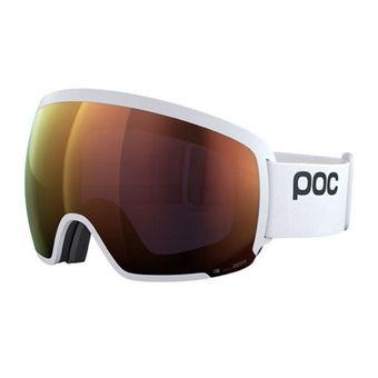 Poc ORB CLARITY - Masque ski hydrogen white/spektris orange