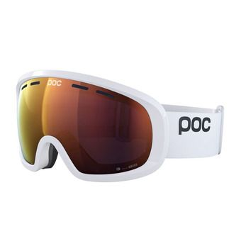 Poc FOVEA MID CLARITY - Ski Goggles - hydrogen white/spektris orange
