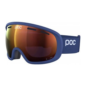 Poc FOVEA CLARITY - Maschera da sci lead blue/spektris orange
