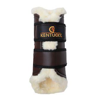 Guetre cuir mouton choco postérieur Unisexe Choco