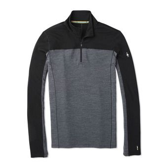 M MS 250 LS 1/4 Zip Homme BLACK
