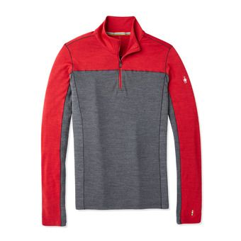 M MS 250 LS 1/4 Zip Homme CHILI PEPPER HEATHER