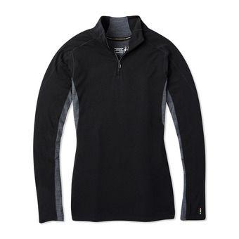W MS 250 LS 1/4 Zip Femme BLACK
