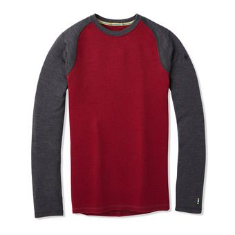 M Merino 250 BL Crew Bxd Homme TIBETAN RED H/CHARCOAL H