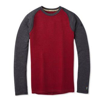 Smartwool MERINO 250 - Maglia termica Uomo tibetan red h/charcoal h