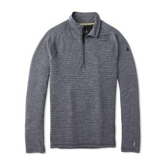 Smartwool MERINO 250 ZIP - Camiseta térmica hombre pattern medium gray tick stitch