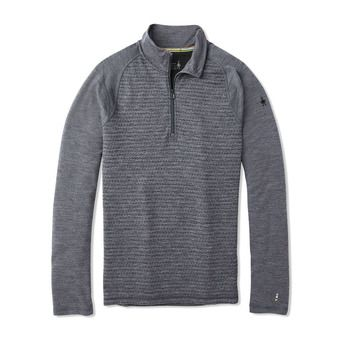 Smartwool MERINO 250 ZIP - Maglia termica Uomo pattern medium gray tick stitch