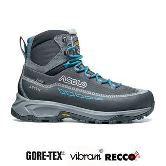 Asolo ARCTIC GV GTX - Chaussures randonnée Femme grey/gunmetal/blue peacock