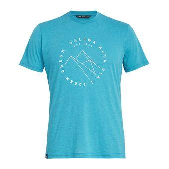 Salewa ALTA VIA DRI-REL - T-Shirt - Men's - ocean melange
