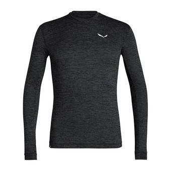 Salewa PUEZ MELANGE DRY - Camiseta hombre black out melange