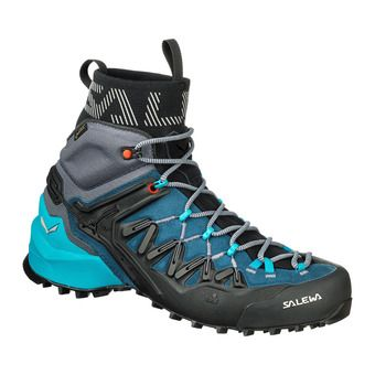 Salewa WILDFIRE EDGE MID GTX - Approach Shoes - Women's - poseidon/g