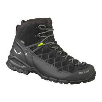 Salewa ALP TRAINER MID GTX - Chaussures randonnée Homme black/black