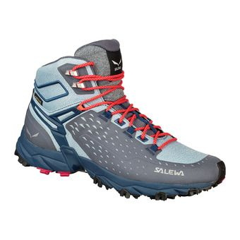 Salewa ALPENROSE ULTRA MID GTX - Chaussures randonnée active Femme grisaille/po