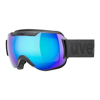 Uvex DOWNHILL 2000 CV - Masque ski black mat/mirror blue radar