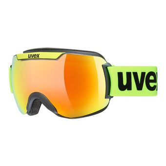 Uvex DOWNHILL 2000 CV - Masque ski black lime mat/mirror orange radar