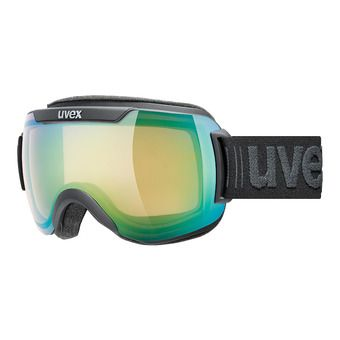 Uvex DOWNHILL 2000 V - Masque photochromatique ski black mat/vario green mirror