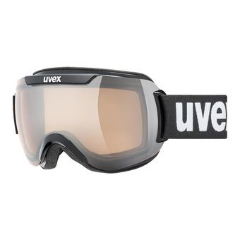 Uvex DOWNHILL 2000 V - Masque photochromatique ski black/vario silver mirror