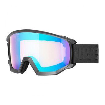 Uvex ATHLETIC CV - Masque ski black mat/mirror blue vista