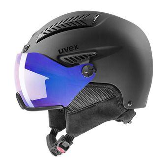 Uvex HLMT 600 VISOR VARIO - Casque ski black mat/vario blue mirror