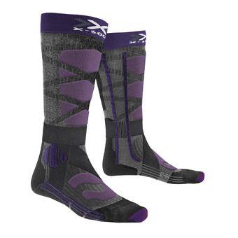 X-Socks CONTROL 4.0 - Chaussettes ski Femme noir/violet